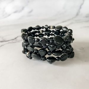 🌿 2 for $20 🌿 Black Bead Bangle